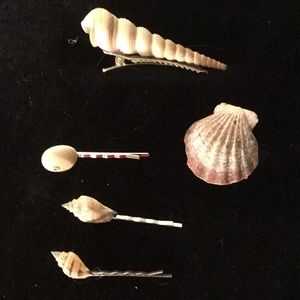 Set of 5 Sea Shell Hair Accessories
